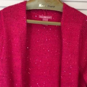 Sparkly Open Knit Duster
